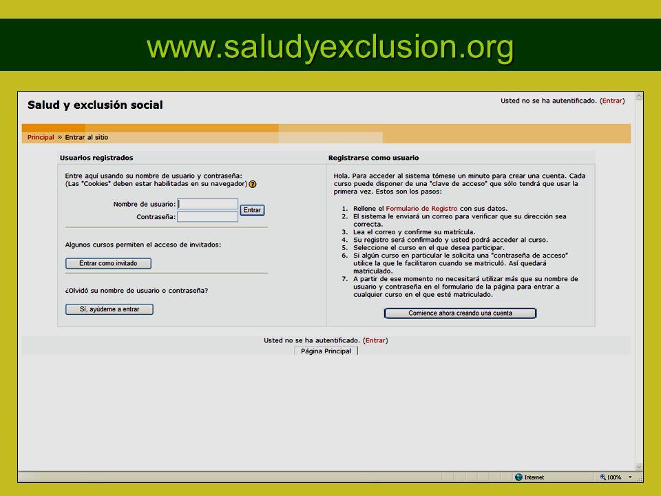 www.saludyexclusion.org