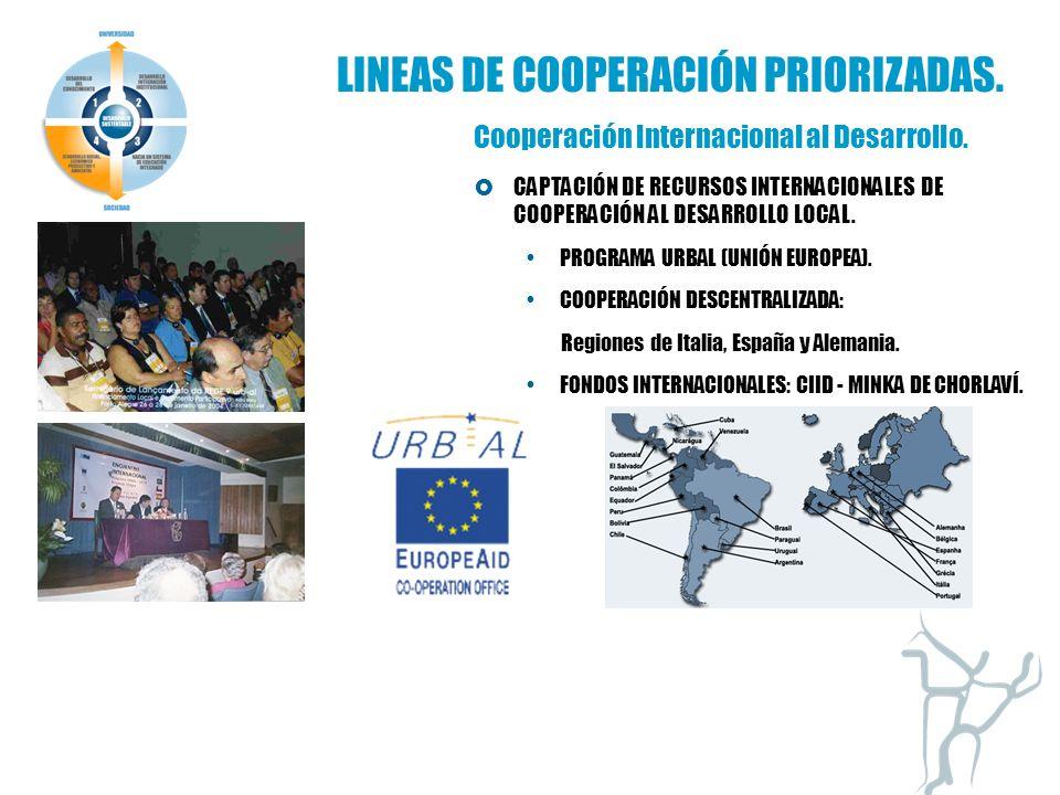 Programa Desarrollo Local Cooperación Internacional al Desarrollo.