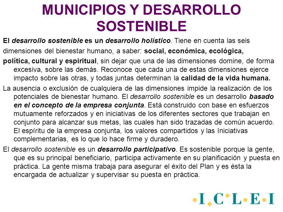 AGENDA LOCAL 21 Es un elemento de planeación para el desarrollo sostenible, que llama a la participación activa a todos los miembros de la comunidad y permite la creación de estrategias de servicios.