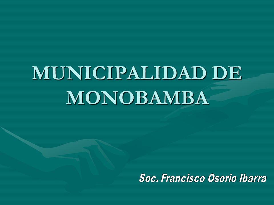 MUNICIPALIDAD DE MONOBAMBA