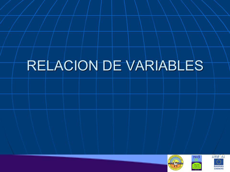 RELACION DE VARIABLES