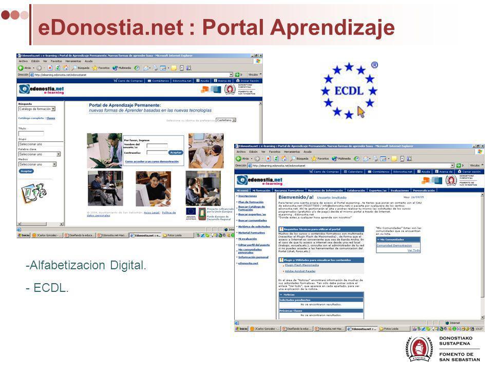 eDonostia.net : Portal Aprendizaje -Alfabetizacion Digital. - ECDL.