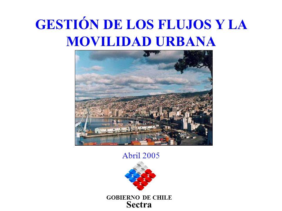 GESTIÓN DE LOS FLUJOS Y LA MOVILIDAD URBANA GOBIERNO DE CHILE Sectra Abril 2005