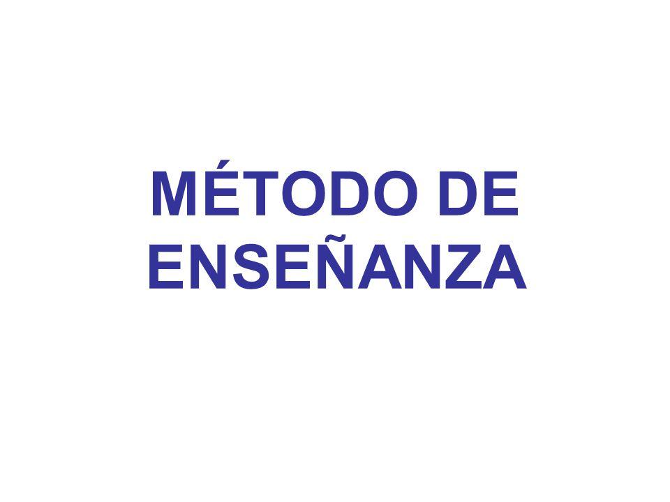MÉTODO DE ENSEÑANZA