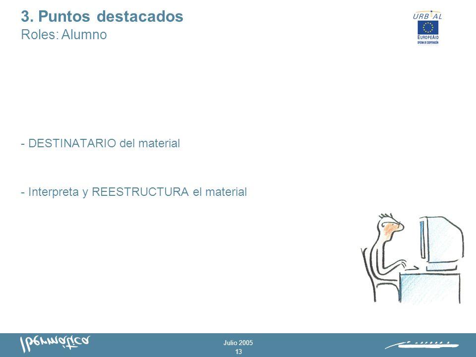 Julio 2005 12 - Elegir los RECURSOS GRÁFICOS más adecuados.