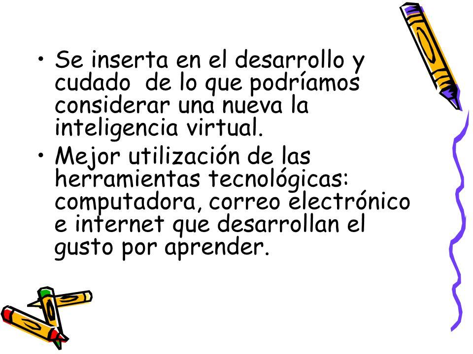 Se inserta en el desarrollo y cudado de lo que podríamos considerar una nueva la inteligencia virtual.