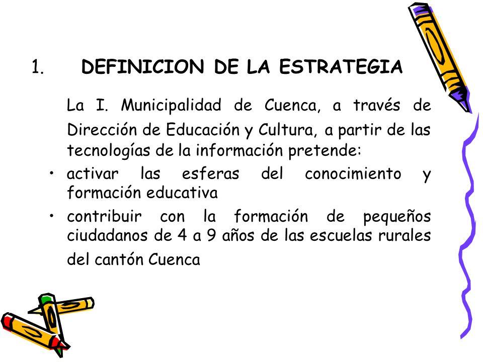 1. DEFINICION DE LA ESTRATEGIA La I.