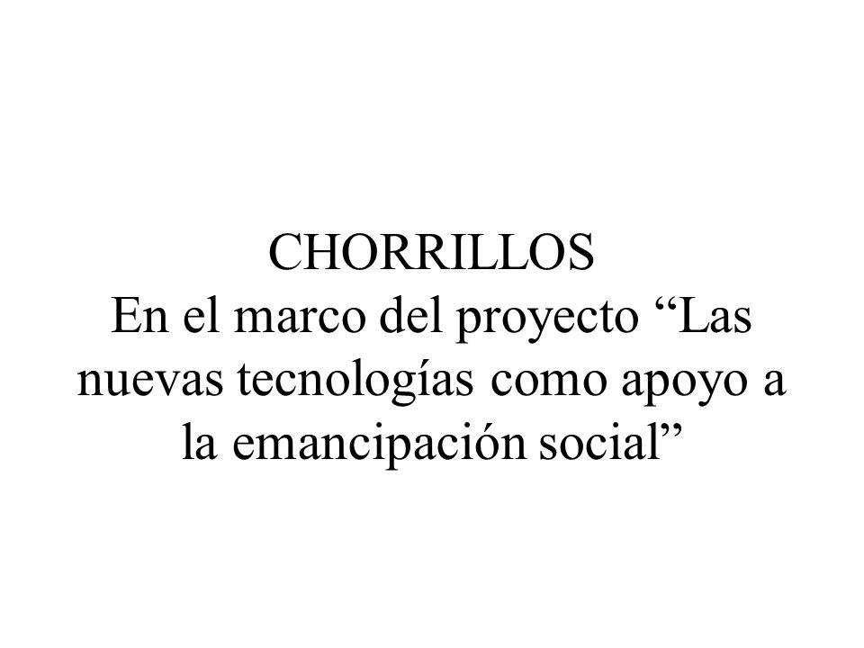 CHORRILLOS En el marco del proyecto Las nuevas tecnologías como apoyo a la emancipación social