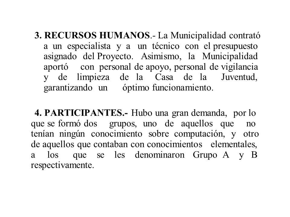 2. INSTALACION.- En su primera etapa y de acuerdo a las instrucciones del primer encuentro de Tacuarembó, se procedió a instalar el TELECENTRO en la C