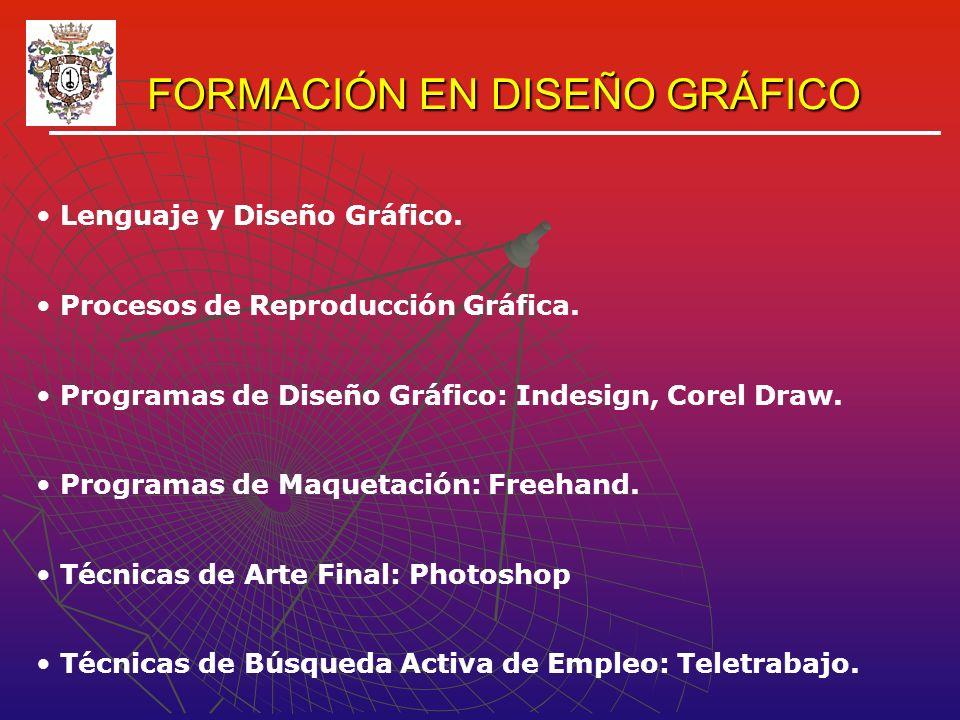 FORMACIÓN EN DISEÑO GRÁFICO FORMACIÓN EN DISEÑO GRÁFICO Lenguaje y Diseño Gráfico.