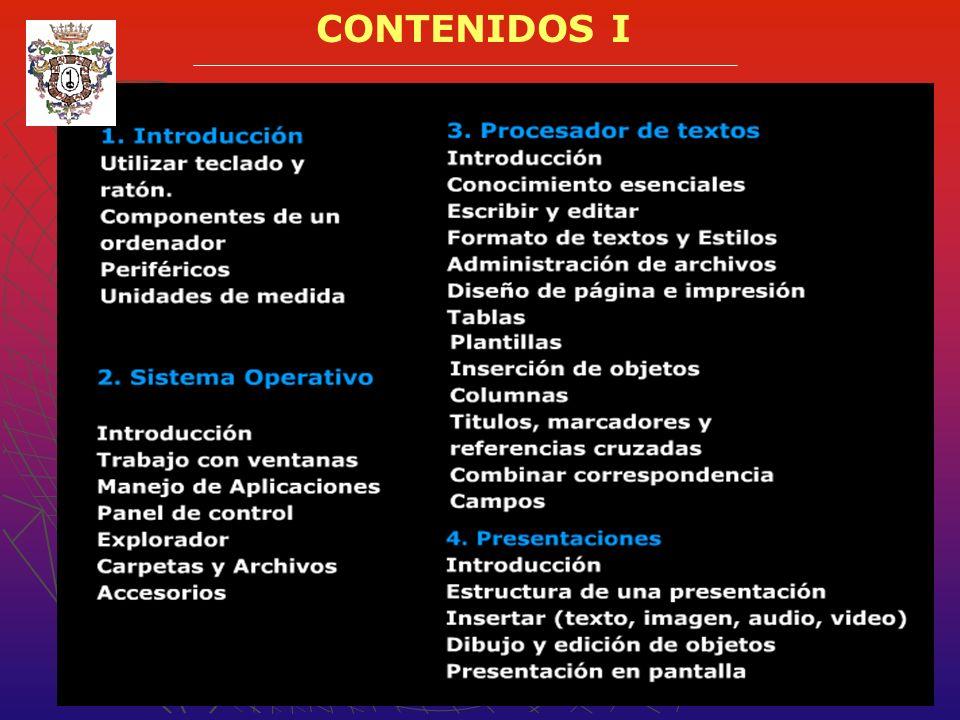 CONTENIDOS I