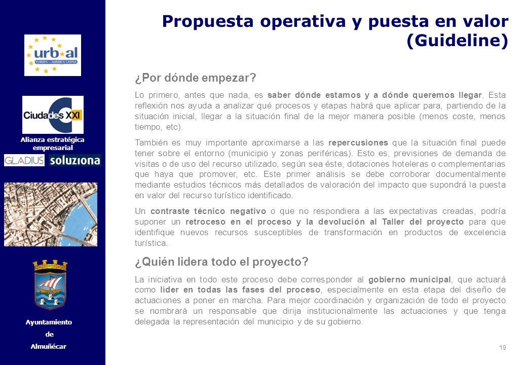 19 Alianza estratégica empresarial Ayuntamiento de Almuñécar ¿Por dónde empezar? Lo primero, antes que nada, es saber dónde estamos y a dónde queremos