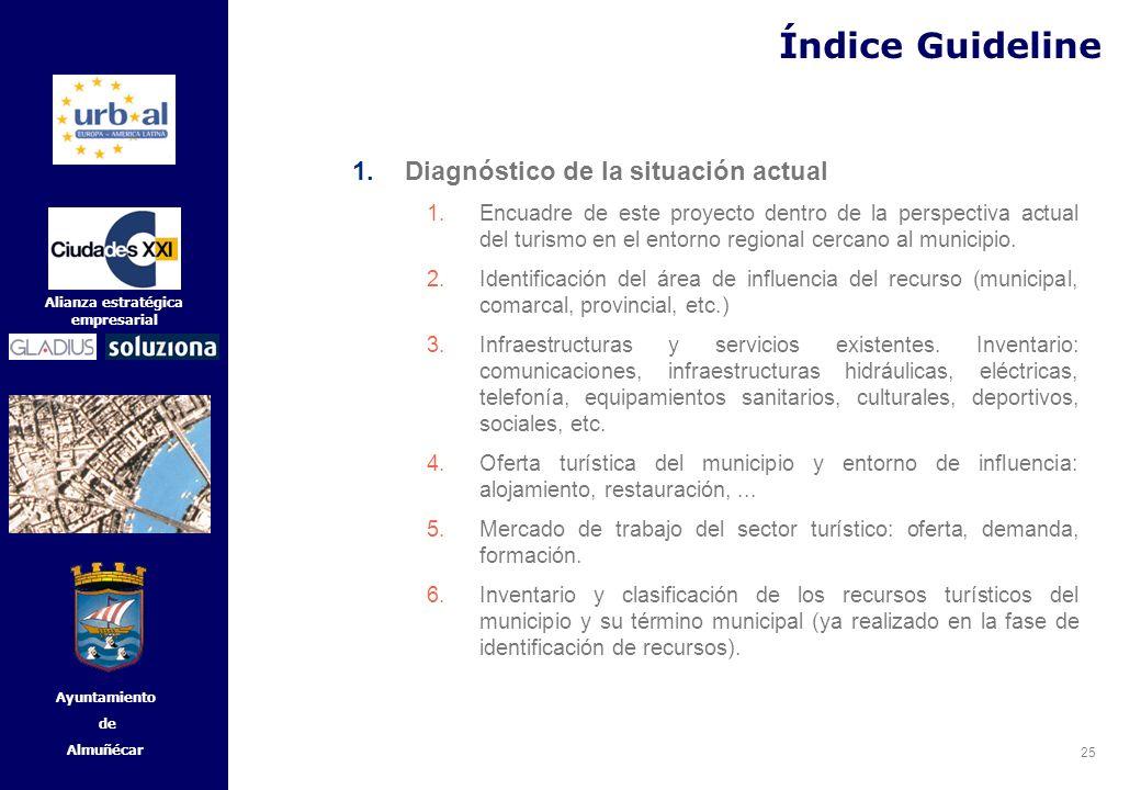 25 Alianza estratégica empresarial Ayuntamiento de Almuñécar 1.Diagnóstico de la situación actual 1.Encuadre de este proyecto dentro de la perspectiva