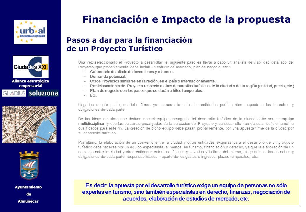 45 Alianza estratégica empresarial Ayuntamiento de Almuñécar Una vez seleccionado el Proyecto a desarrollar, el siguiente paso es llevar a cabo un aná