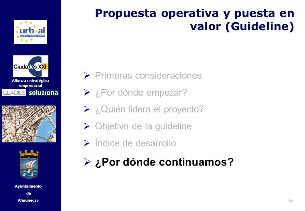 52 Alianza estratégica empresarial Ayuntamiento de Almuñécar Primeras consideraciones ¿Por dónde empezar? ¿Quién lidera el proyecto? Objetivo de la gu