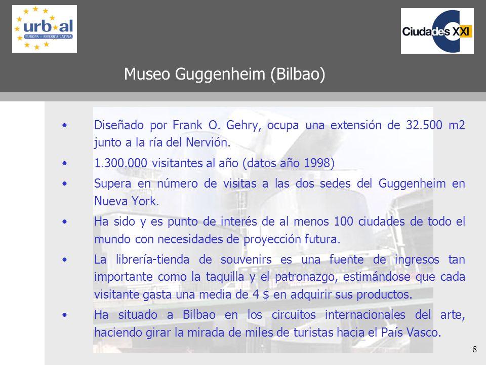 8 Museo Guggenheim (Bilbao) Diseñado por Frank O.
