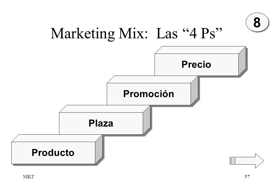 MKT57 Precio Marketing Mix: Las 4 Ps 8 8 Promoción Plaza Producto