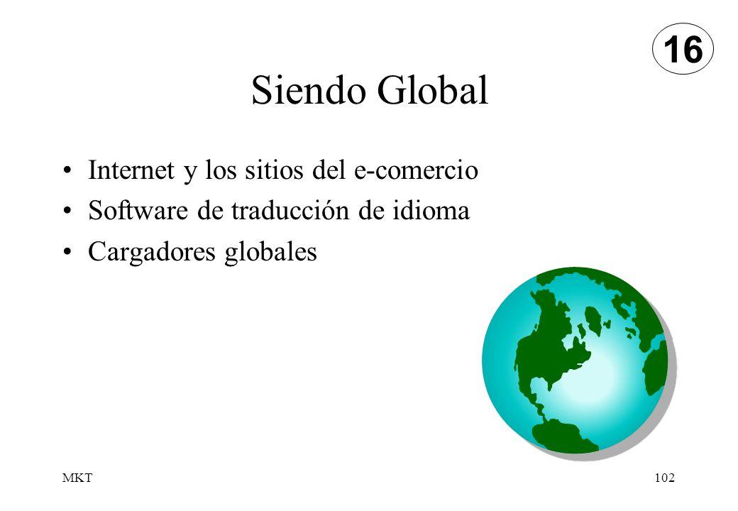 MKT102 Siendo Global 16 Internet y los sitios del e-comercio Software de traducción de idioma Cargadores globales