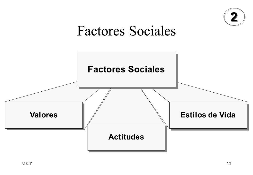MKT12 Factores Sociales Valores Actitudes Estilos de Vida Factores Sociales 2 2