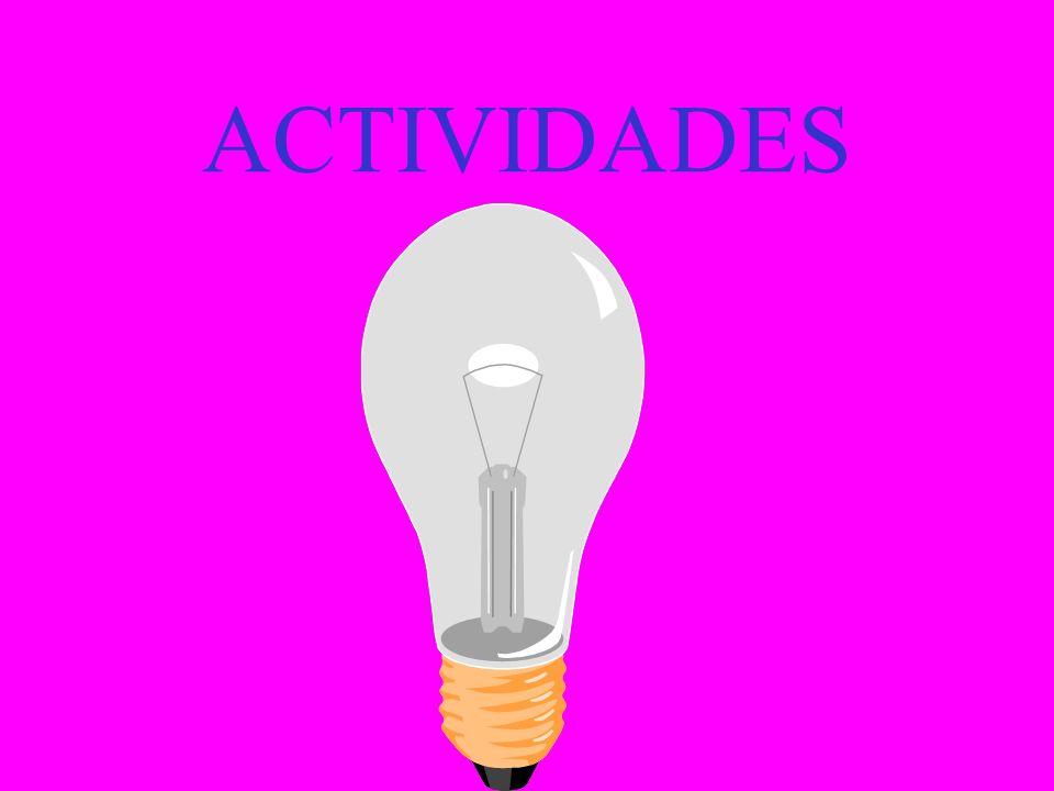 ACTITUDINALES Colaboración con los compañeros en la elaboración de los diversos trabajos que se propongan Participación