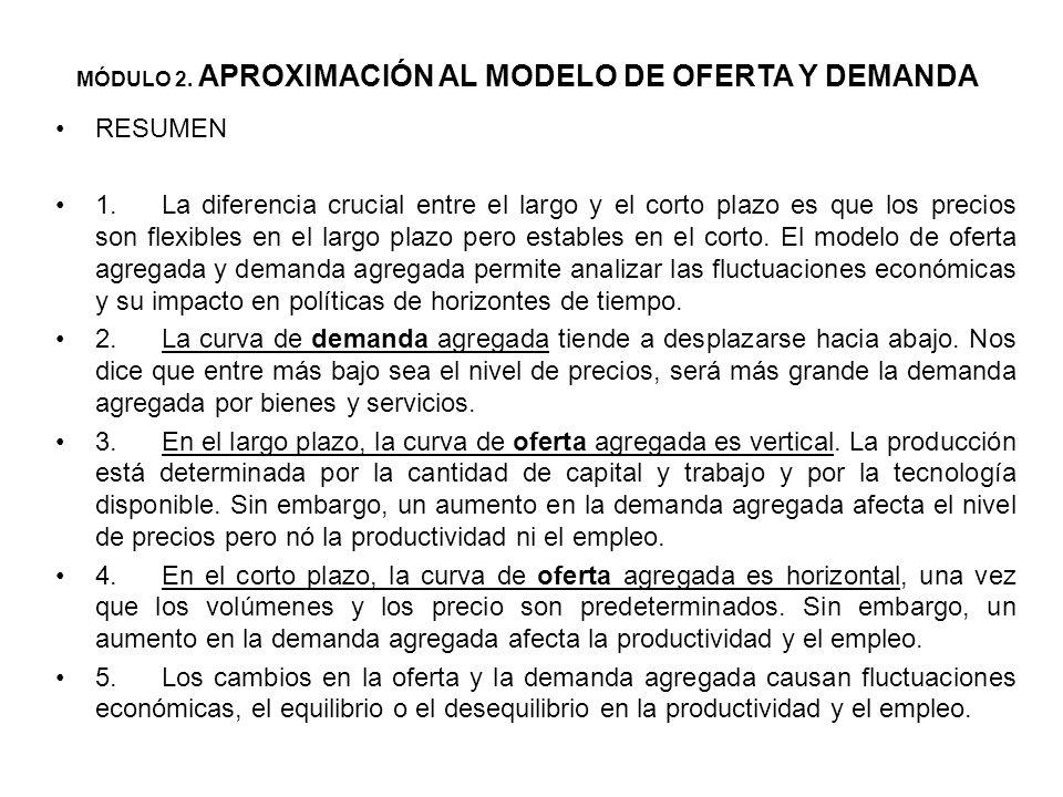 Política monetaria ante los desequilibrios del mercado El precio de equilibrio es aquel en el que coinciden los planes de los demandantes o consumidor