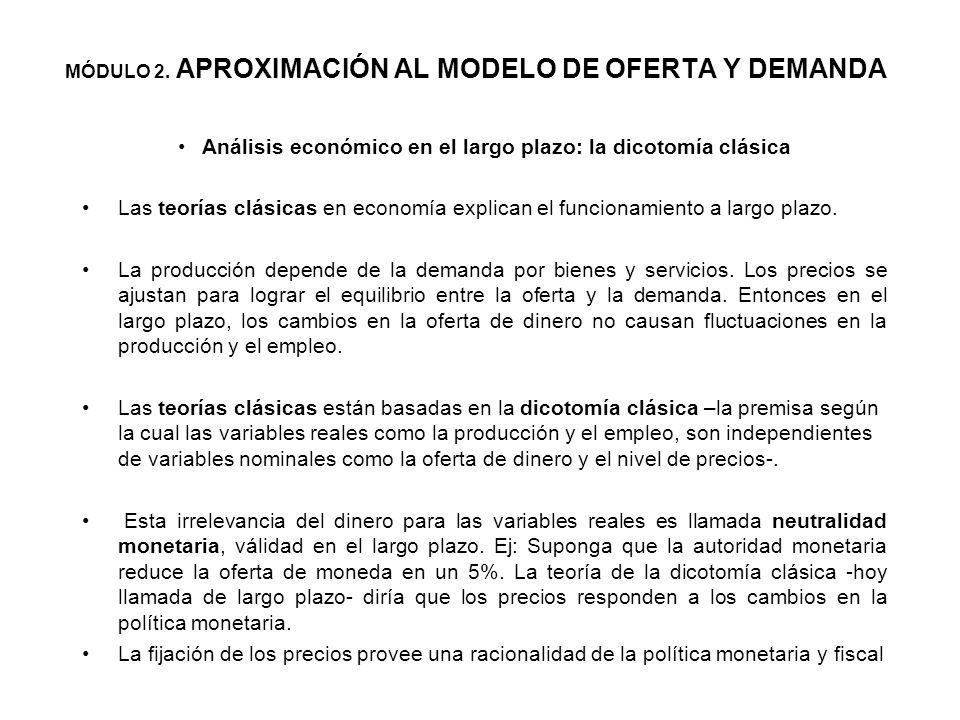 El diagnóstico del modelo clásico liberal -Equilibrio de oferta y demanda en el corto y largo plazo- Las medidas de política fiscal para curar las enf