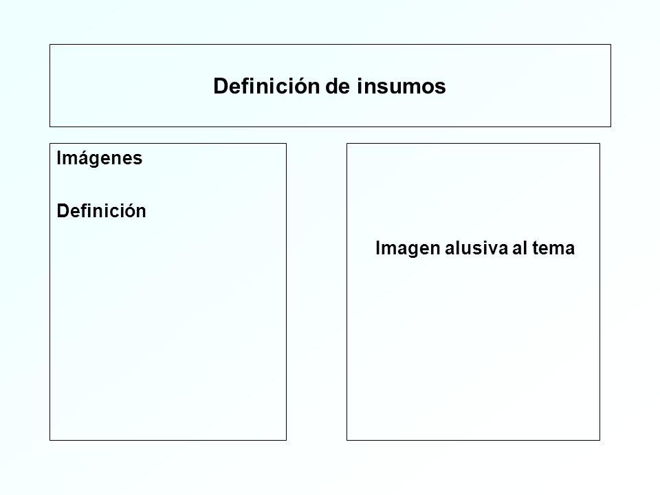 Definición de insumos Imágenes Definición Imagen alusiva al tema