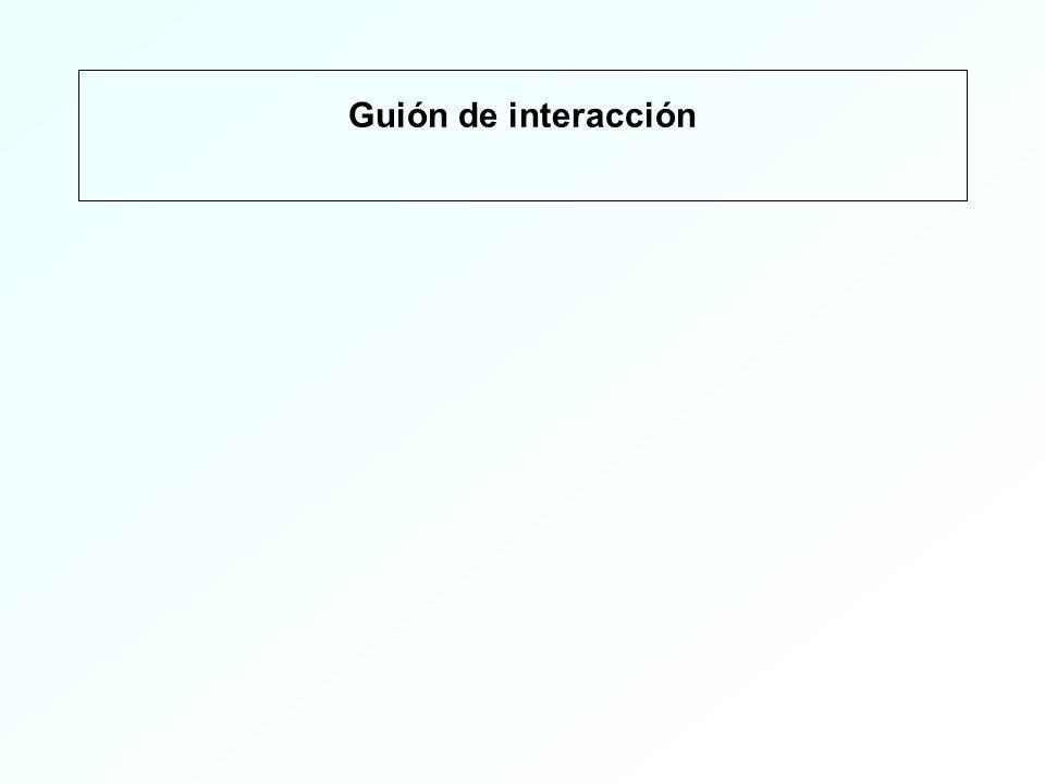 Guión de interacción