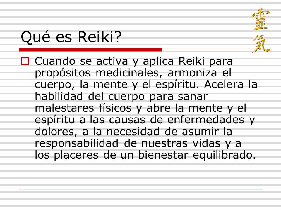 Condiciones del Reiki La energía solo sirve para curar.