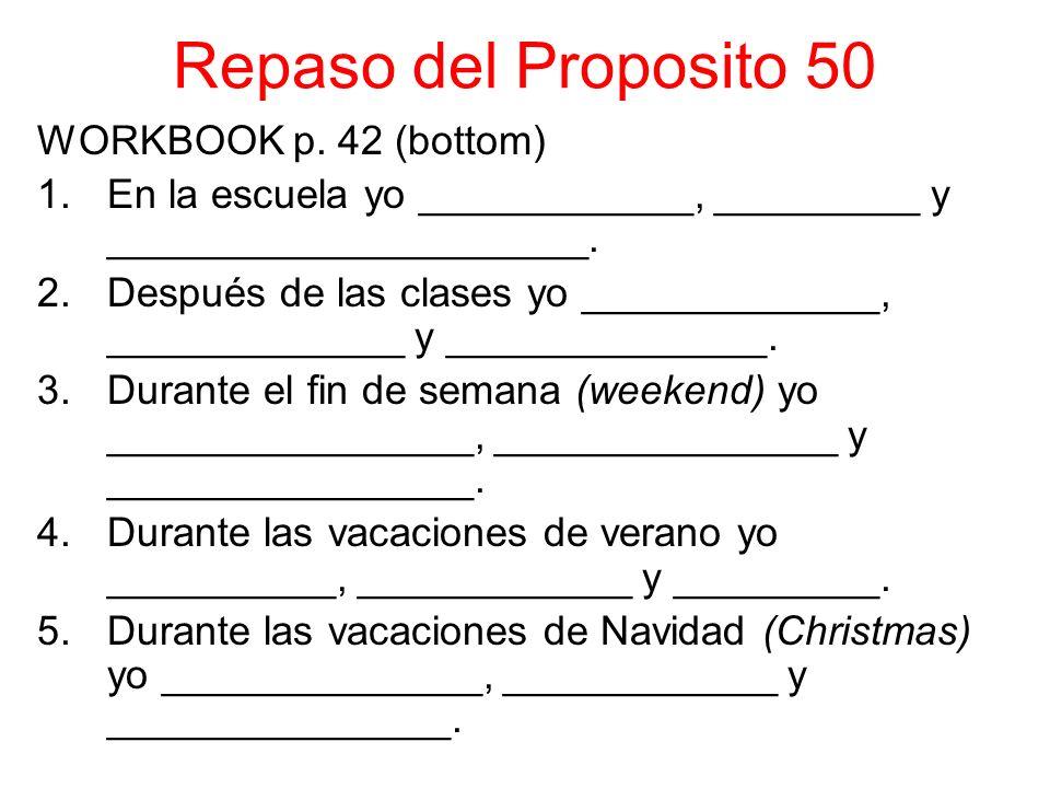 Repaso del Proposito 50 WORKBOOK p.