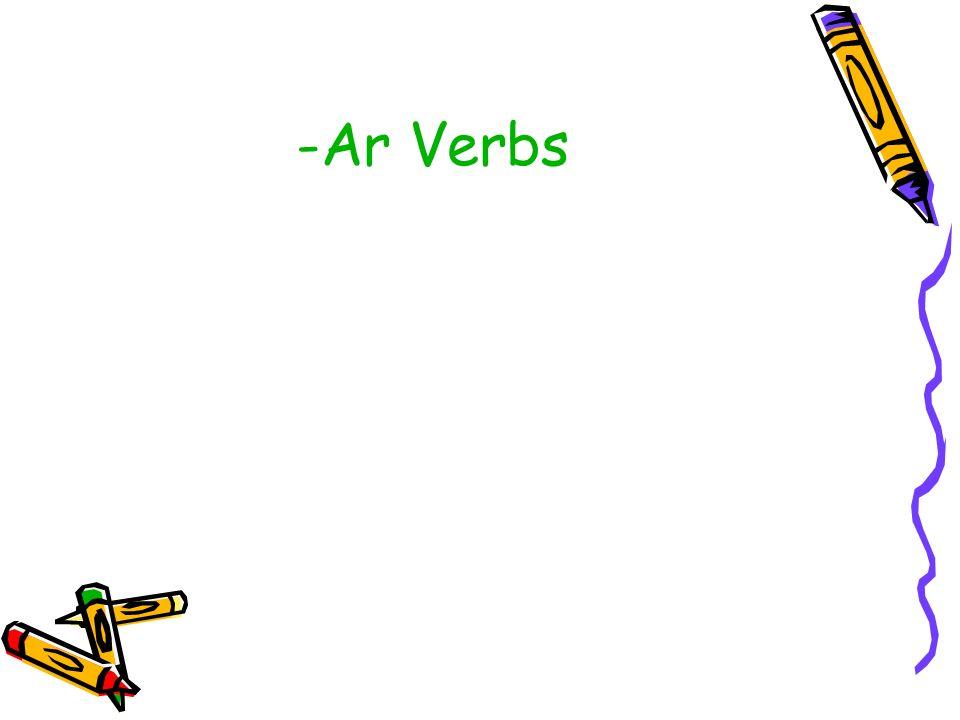 -Ar Verbs