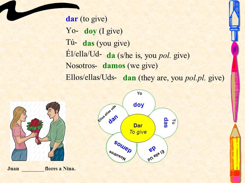-AR Yo- Tú- Él/ella/Ud- Nosotros- Ellos/ellas/Uds- Yo Tú Él ella Ud Nosotros Ellos ellas uds Tomar To take -O -AS -A -AMOS -AN Eduardo ________ un examen.