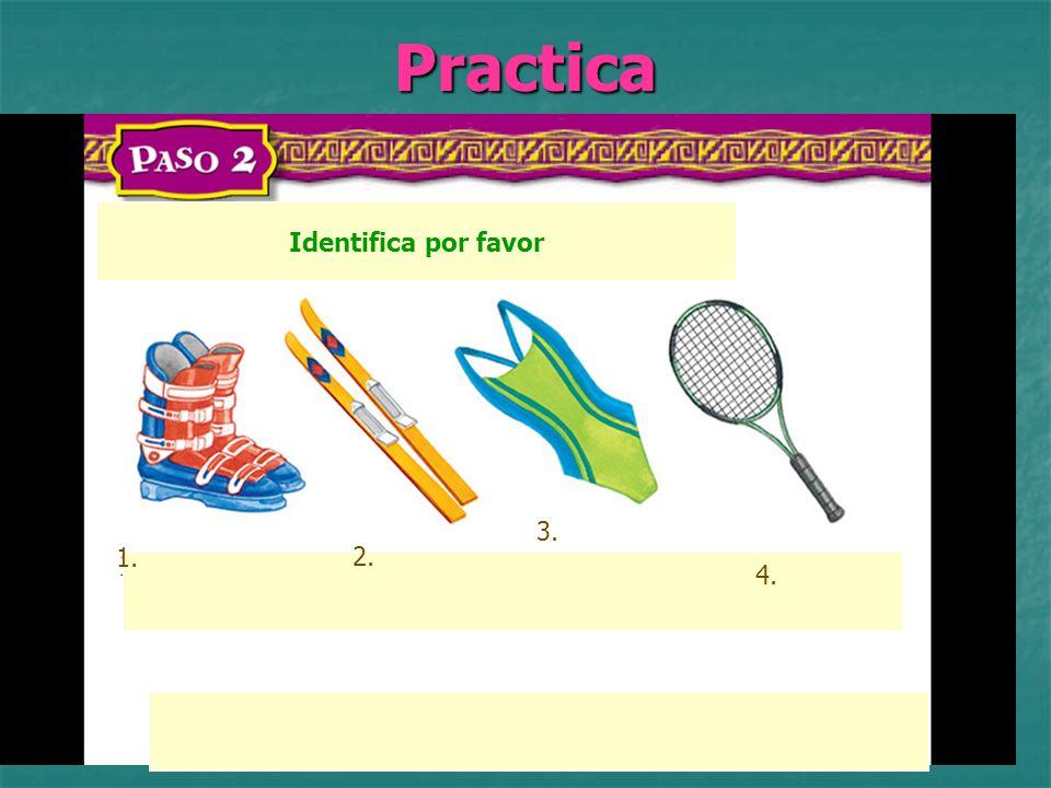 Practica Identifica por favor 1. 2. 3. 4.