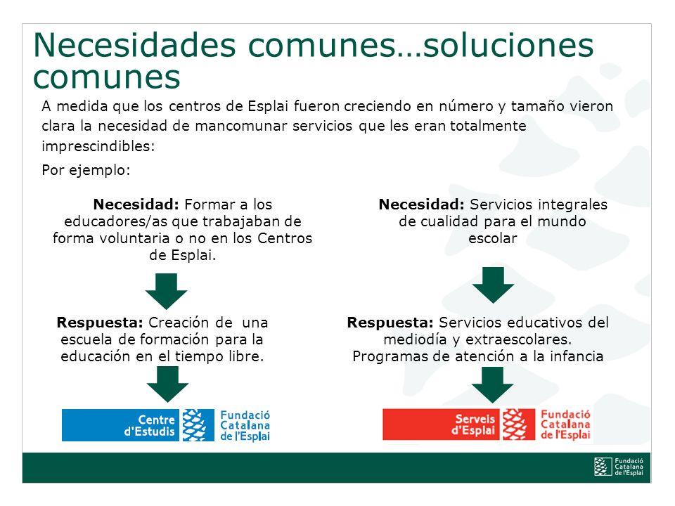Títol de la presentació, subtítol de la presentació Necesidades comunes… soluciones comunes.