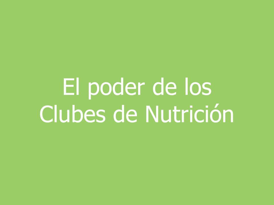 El poder de los Clubes de Nutrición