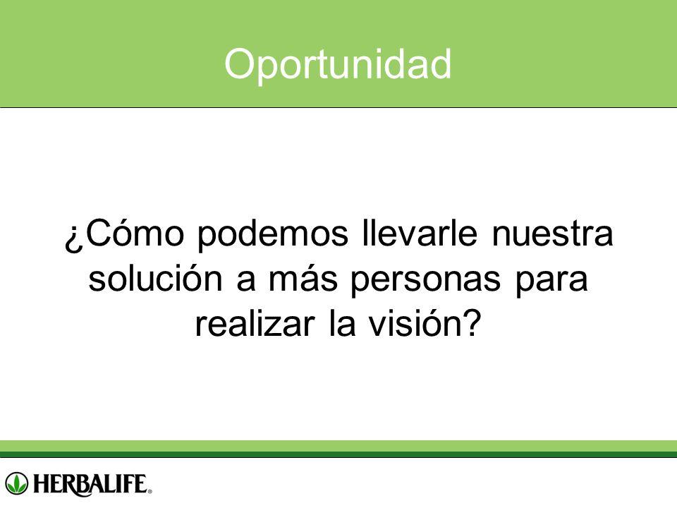 Oportunidad ¿Cómo podemos llevarle nuestra solución a más personas para realizar la visión?
