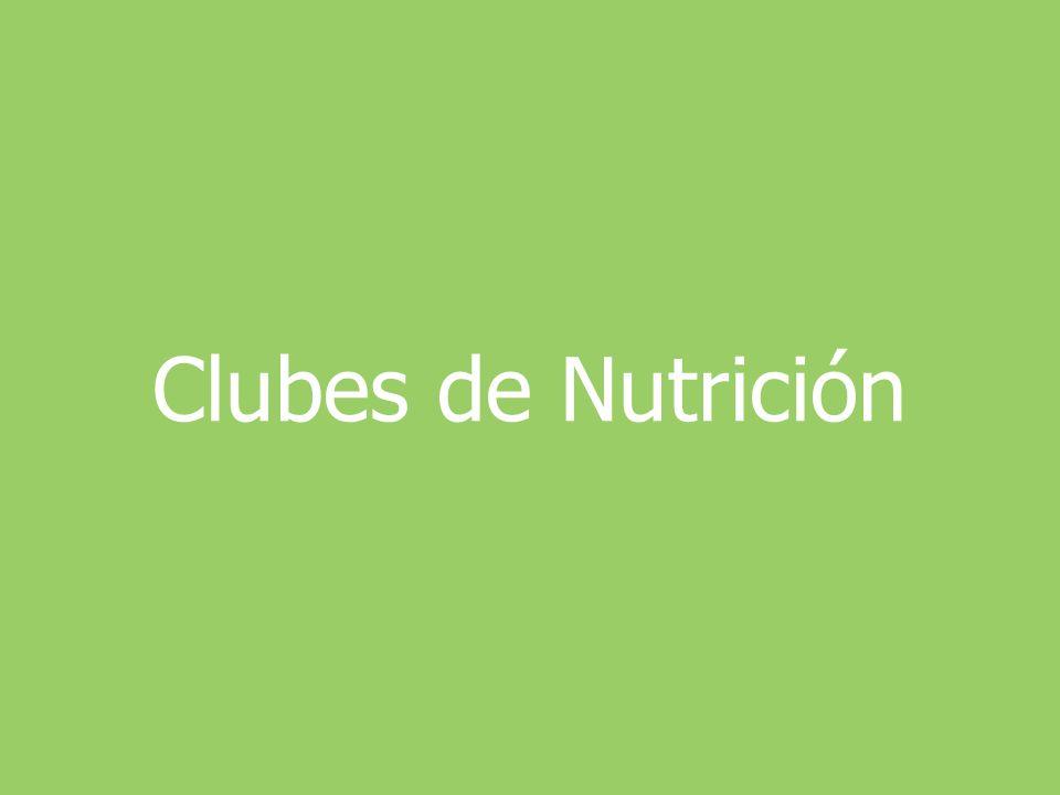 Clubes de Nutrición
