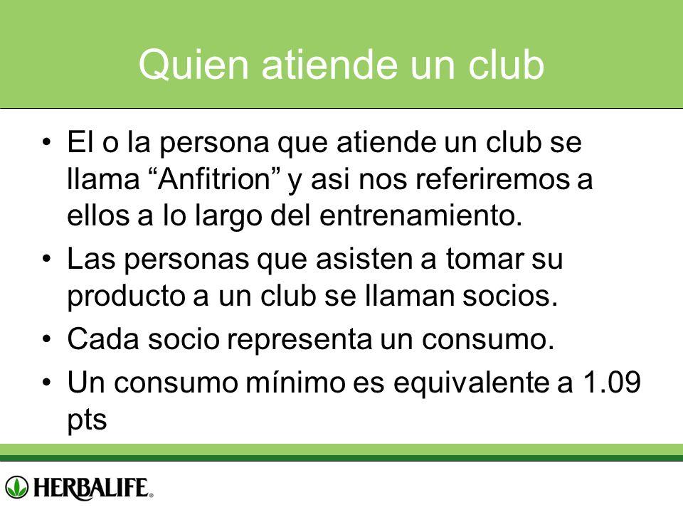 Quien atiende un club El o la persona que atiende un club se llama Anfitrion y asi nos referiremos a ellos a lo largo del entrenamiento. Las personas