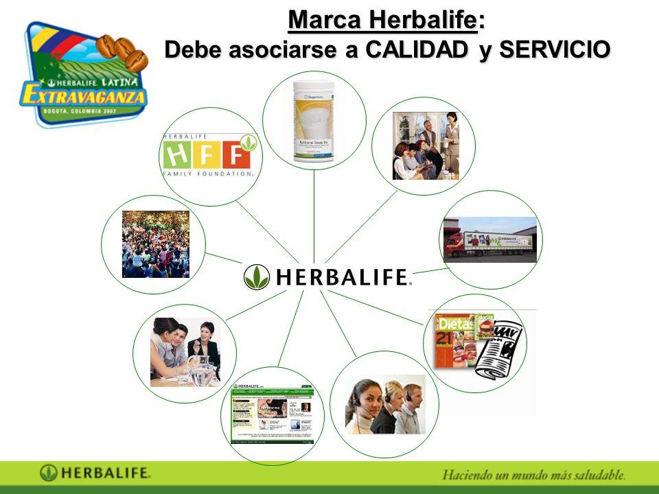 Marca Herbalife: Debe asociarse a CALIDAD y SERVICIO