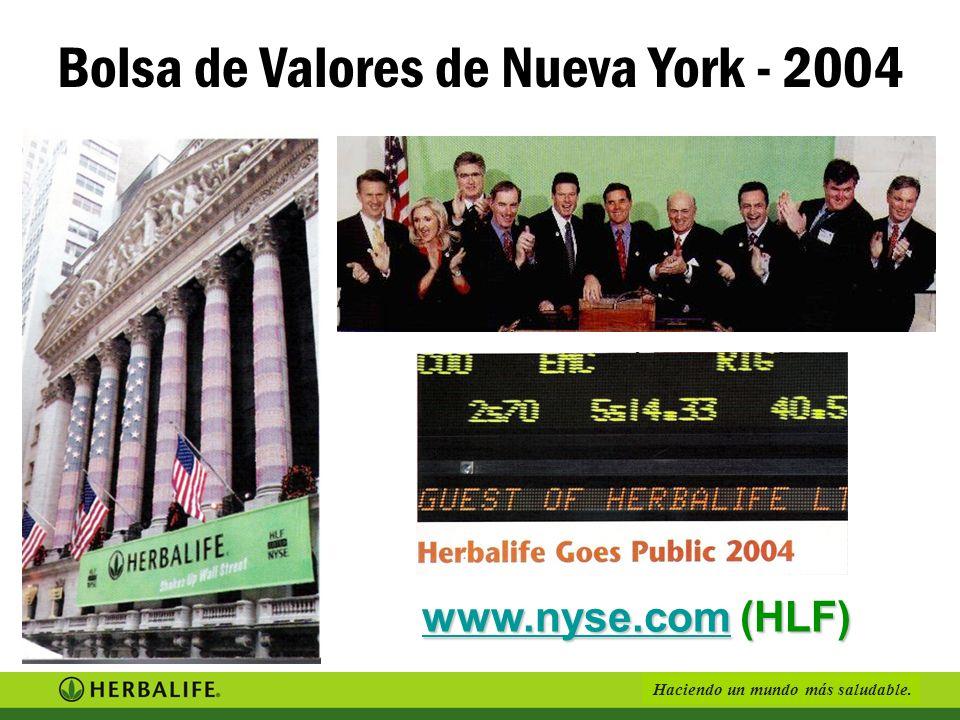Haciendo un mundo más saludable. www.nyse.comwww.nyse.com (HLF) www.nyse.com Bolsa de Valores de Nueva York - 2004