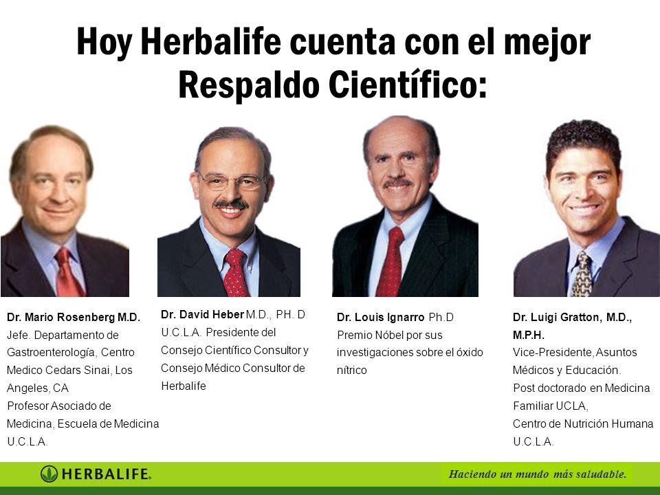 Haciendo un mundo más saludable. Dr. David Heber M.D., PH. D U.C.L.A. Presidente del Consejo Científico Consultor y Consejo Médico Consultor de Herbal