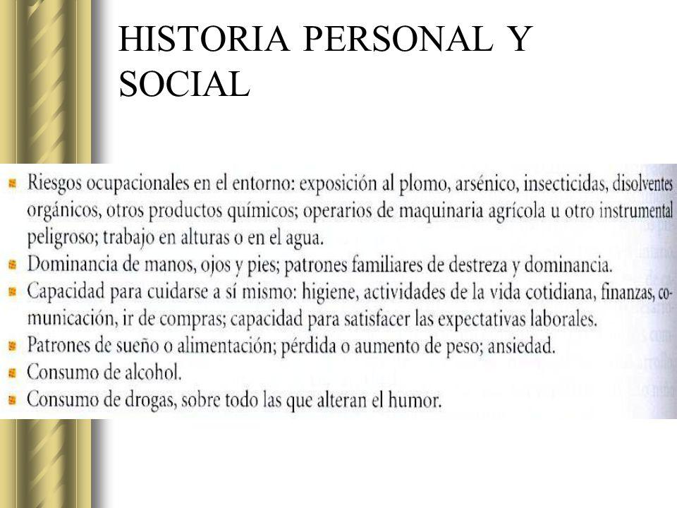 HISTORIA PERSONAL Y SOCIAL