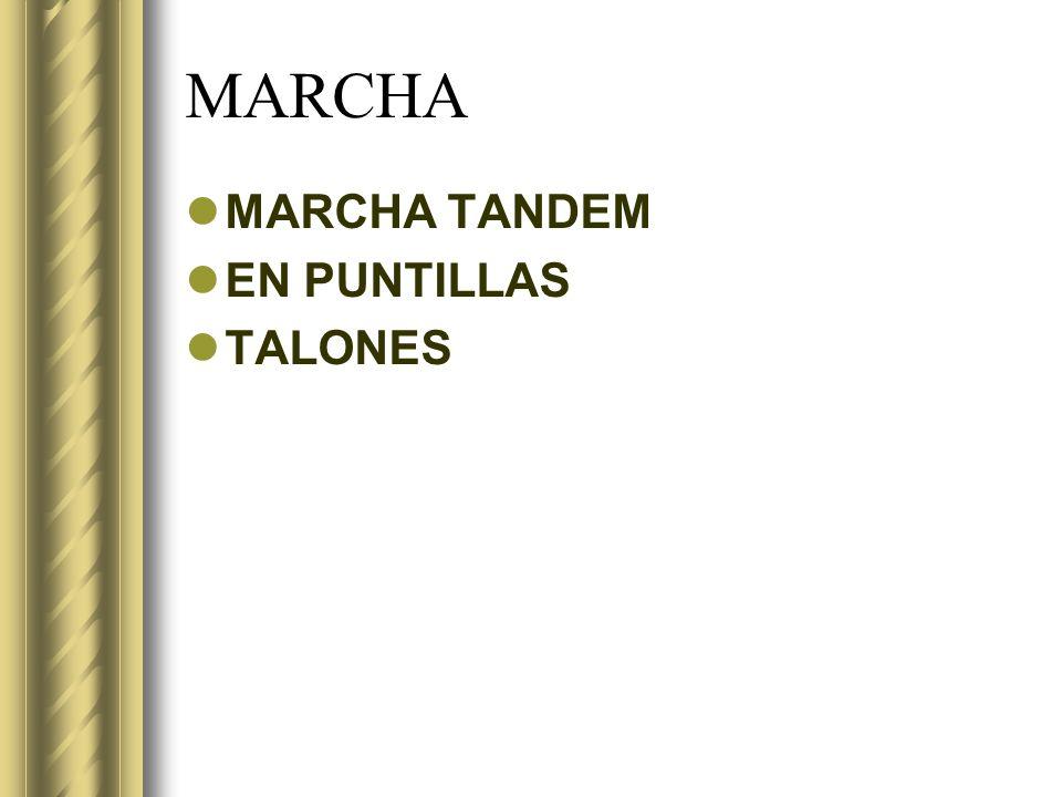 MARCHA MARCHA TANDEM EN PUNTILLAS TALONES
