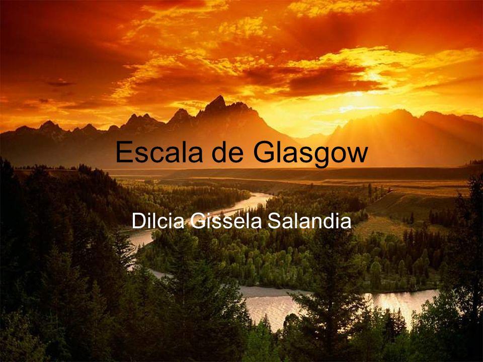 Escala de Glasgow Dilcia Gissela Salandia