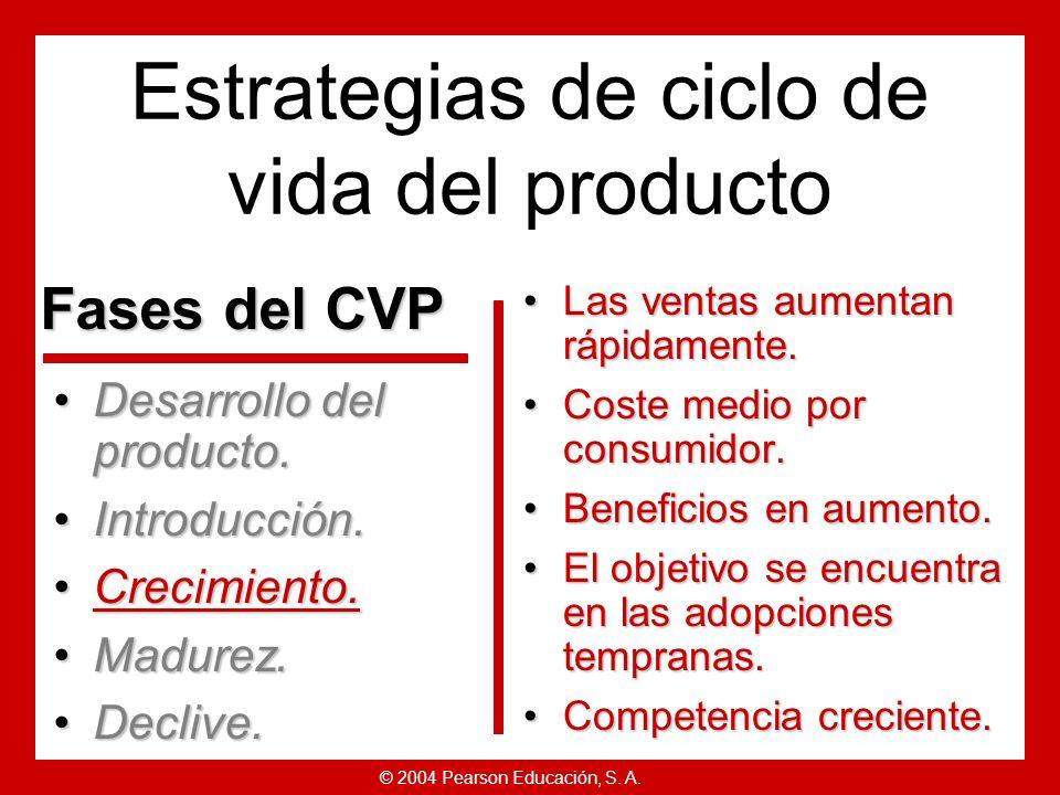 © 2004 Pearson Educación, S. A. Producto: Ofrecer un producto básico.Producto: Ofrecer un producto básico. Precio: Usar una base de coste añadido para