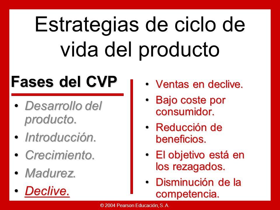© 2004 Pearson Educación, S. A. Producto: diversificar marcas y modelos.Producto: diversificar marcas y modelos. Precio: fijar el precio para ajustars