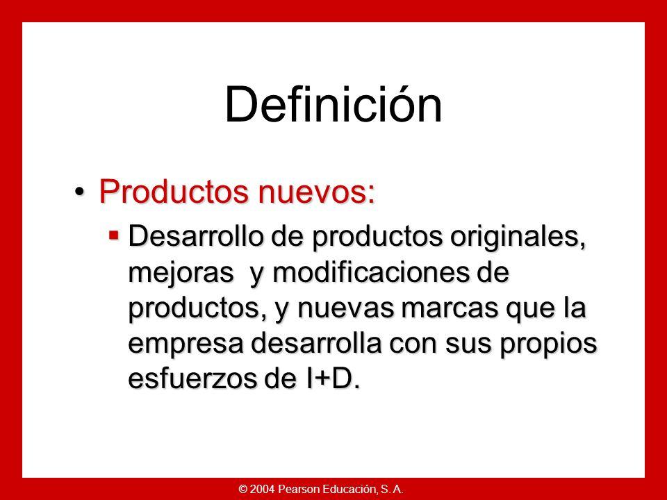 © 2004 Pearson Educación, S. A. Estrategias de desarrollo de nuevos productos