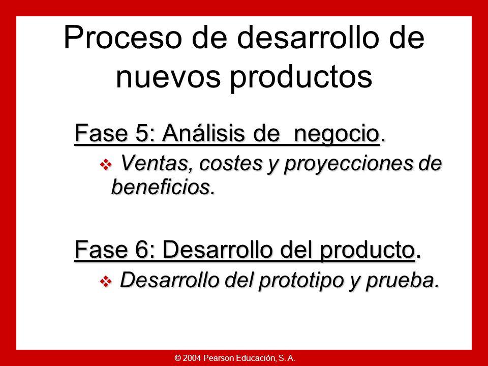 © 2004 Pearson Educación, S.A. Fase 5: Análisis de negocio.