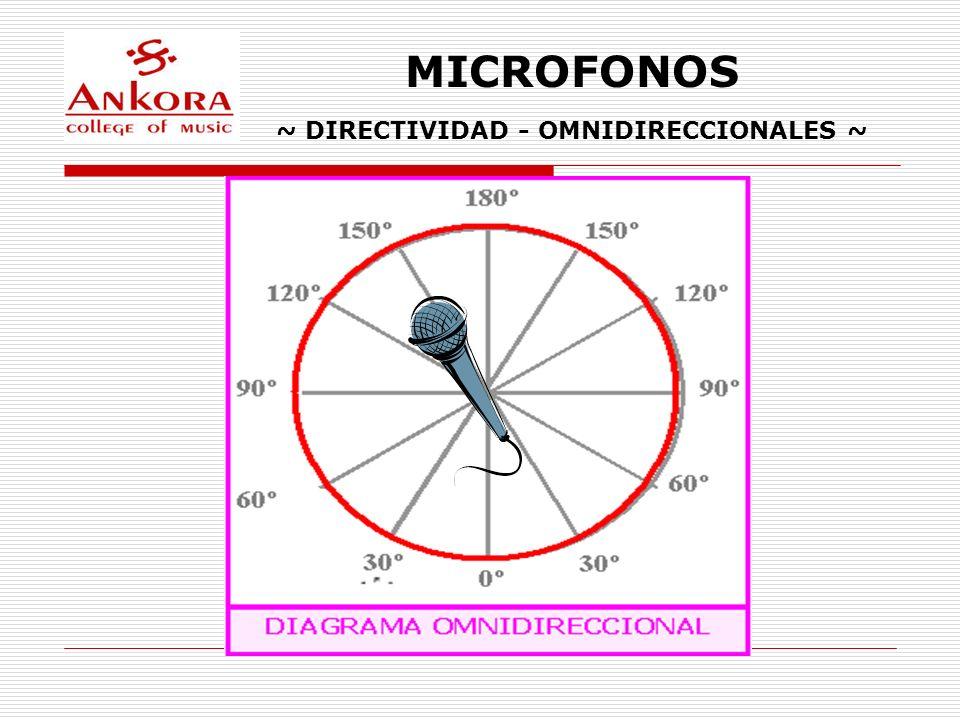 MICROFONOS ~ DIRECTIVIDAD - OMNIDIRECCIONALES ~