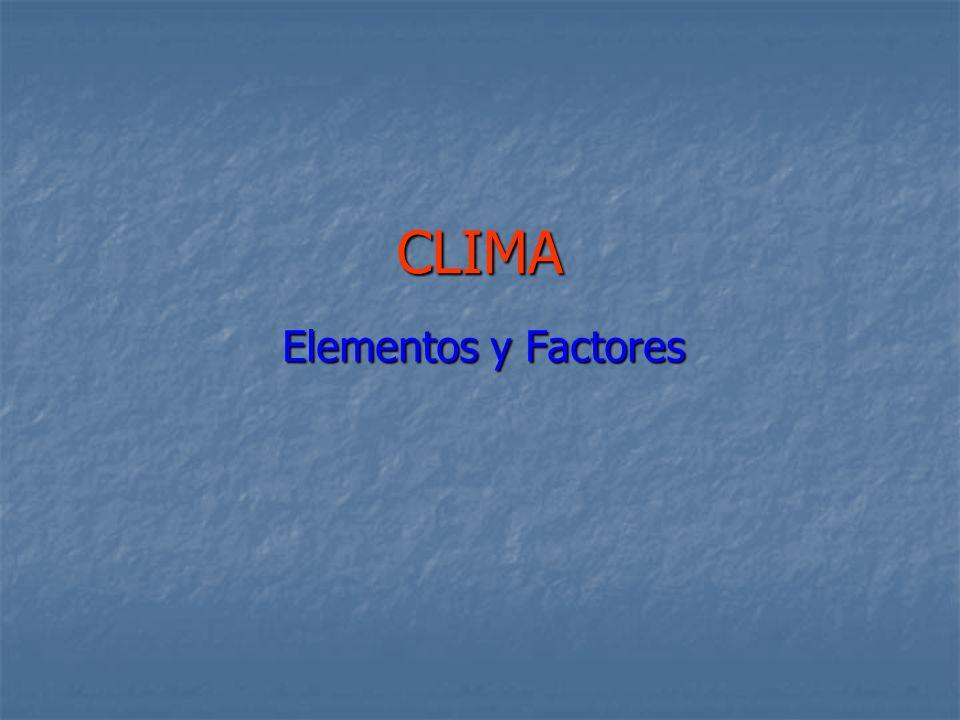 CLIMA Elementos y Factores